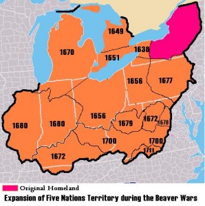 Expansion of Five Nations Territory during the Beaver Wars