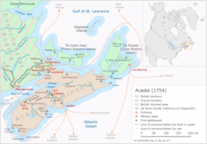 A map of Acadia and Nova Scotia, 1754
