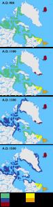 Cultures on the Arctic. Long description available.
