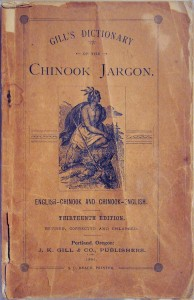 The cover page of Gill's Dictionary of the Chinook Jargon.