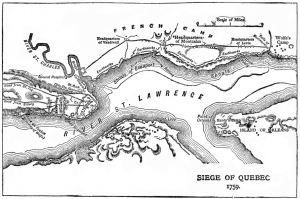 Fortress Quebec is located on a small peninsula.