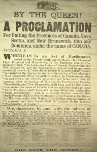 1867 confederation announcement. Long description available.