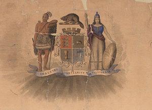 Toronto coat of arms. Long description available.