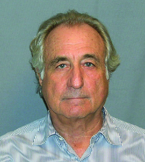 Bernie Madoff's mug shot upon being arrested in March 2009.