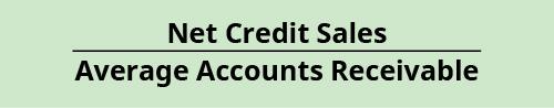 Net Credit Sales / Average Accounts Receivable,