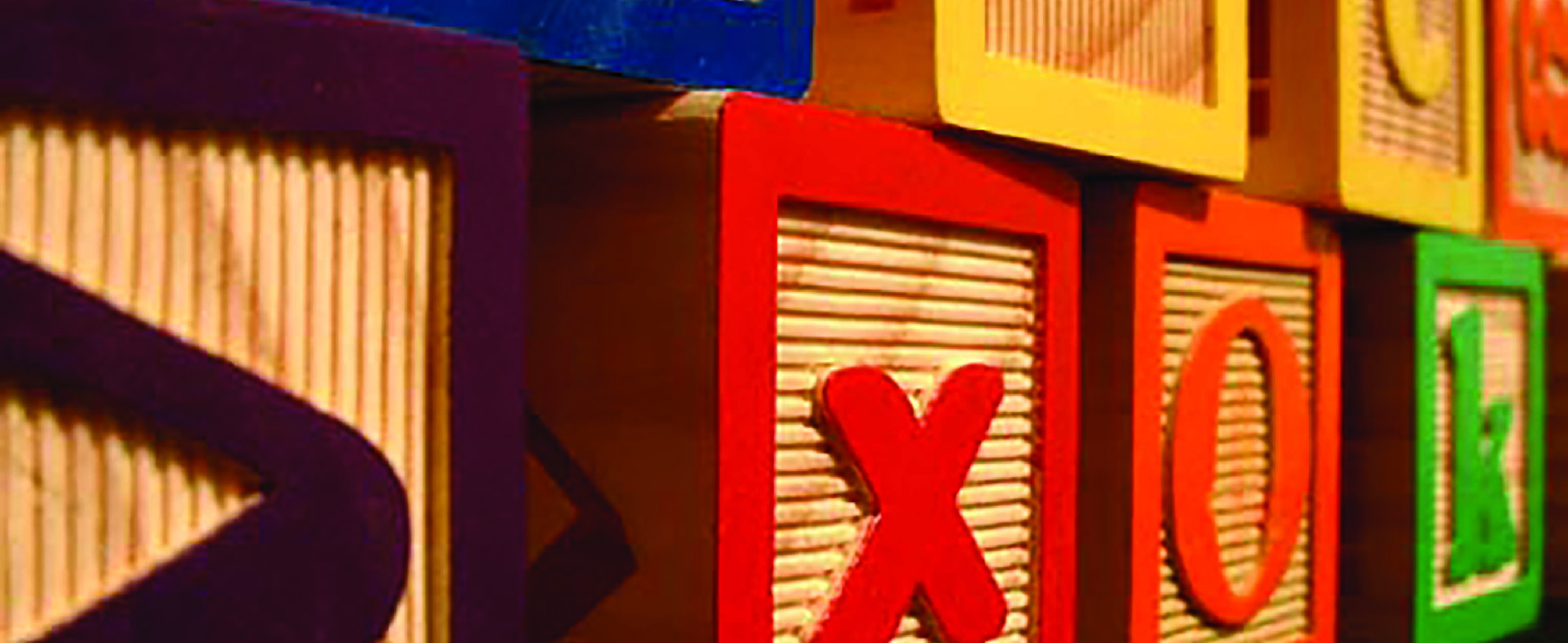 Photograph of children's toy blocks.