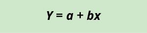 Y equals a plus bx.