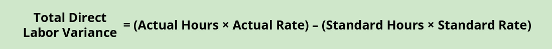 Total Direct Labor Variance minus (Actual Hours times Actual Rate) minus (Standard Hours times Standard Rate).