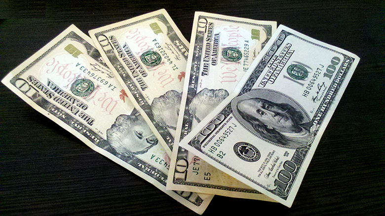 This photo shows U.S. currency.