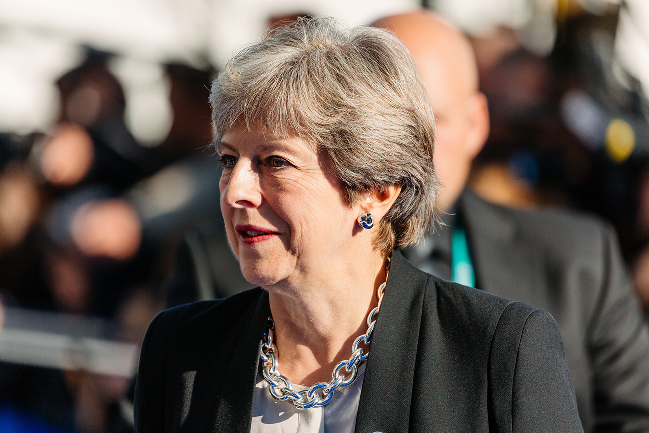 A photo of the British Prime Minister, Theresa May.
