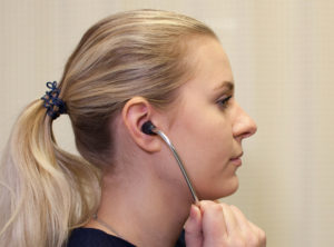 Is this a correct technique in terms of putting the stethoscope in the ears?