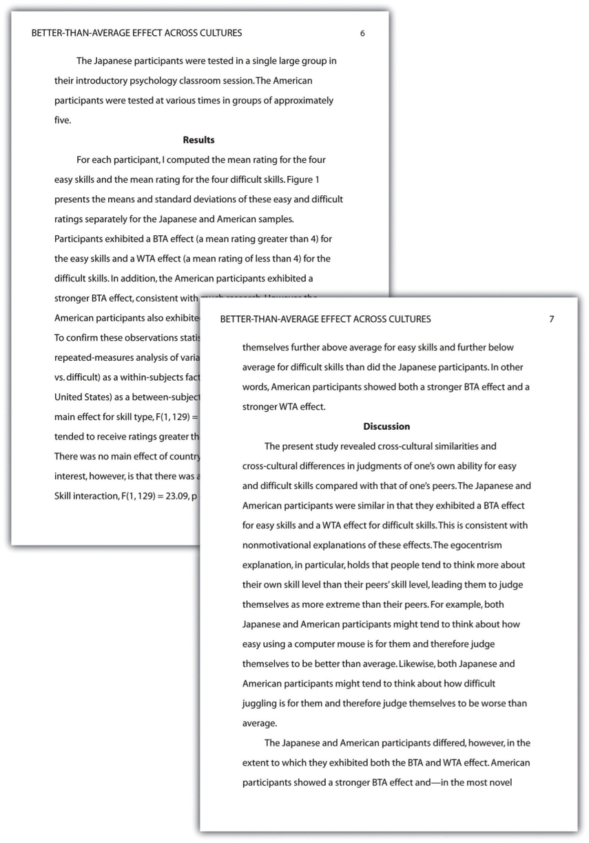 Examples Of Results And Discussion In A Research Paper