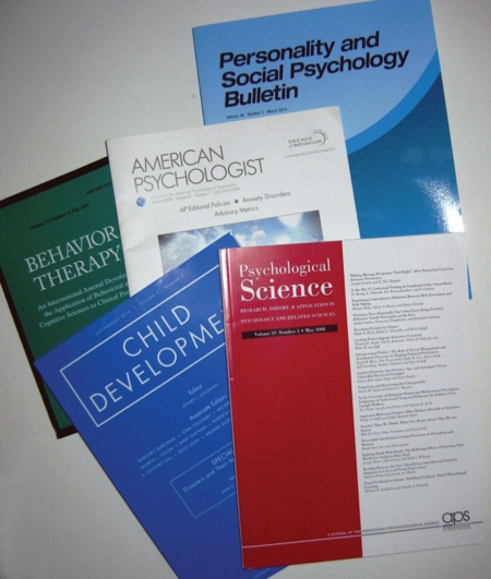 Figure 2.6 Small Sample of the Thousands of Professional Journals That Publish Research in Psychology and Related Fields