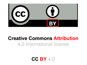 A CC BY licence is a creative commons attribution licence.