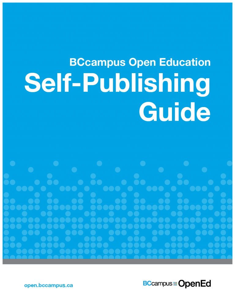 Bland blue cover of Self Publishing Guide