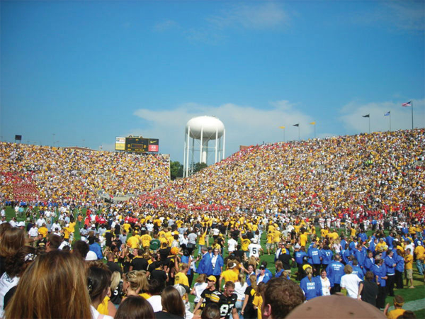 Football game crowd