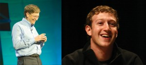 Figure 12.2 Successful businessmen: Bill Gates and Mark Zuckerburg. Image courtesy of Lori Tingey, http://commons.wikimedia.org/wiki/File:Bill_Gates_at_CES_2007_%28350043329%29.jpg (left). Image courtesy of Jason McELweenie, http://commons.wikimedia.org/wiki/File:Mark_Zuckerberg_-_South_by_Southwest_2008.jpg (right).