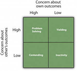 Figure 12.9 The Dual-Concern Model
