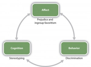 Figure 11.2 Relationships among social groups are influenced by the ABCs of social psychology.
