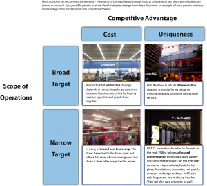 Figure 5.2 Business-Level Strategies long descriptio available