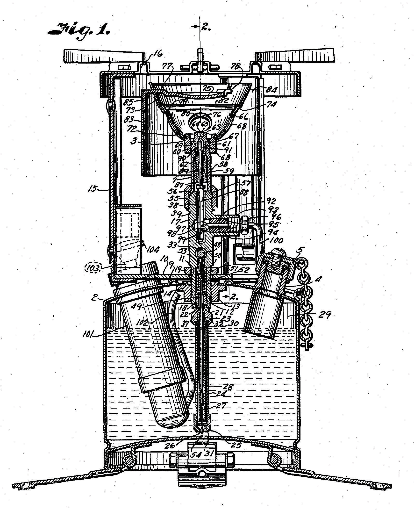 Patent for a Coleman Model Stove