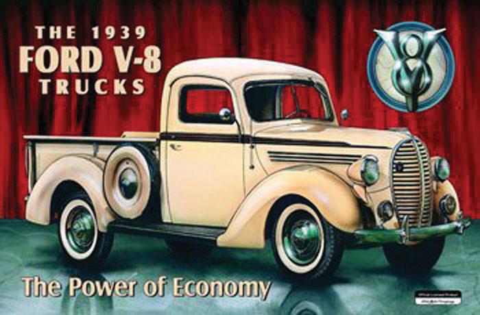 1939 Ford V-8 Truck Advertisement