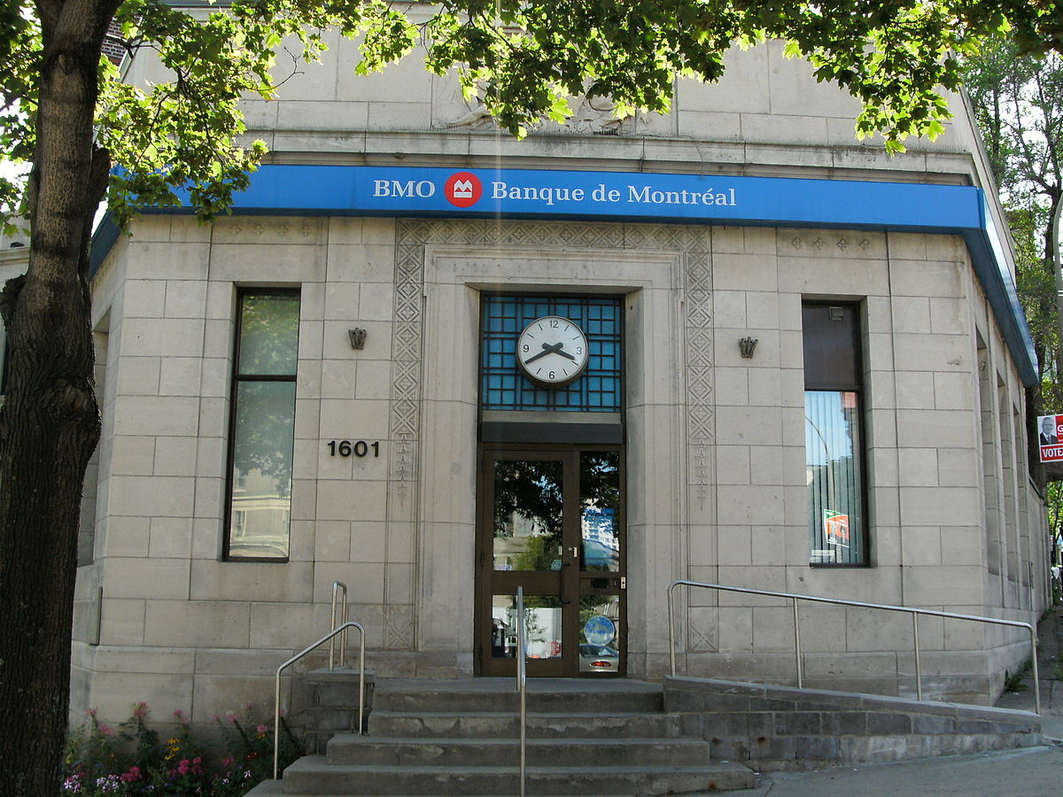Outside of a Bank of Montreal location