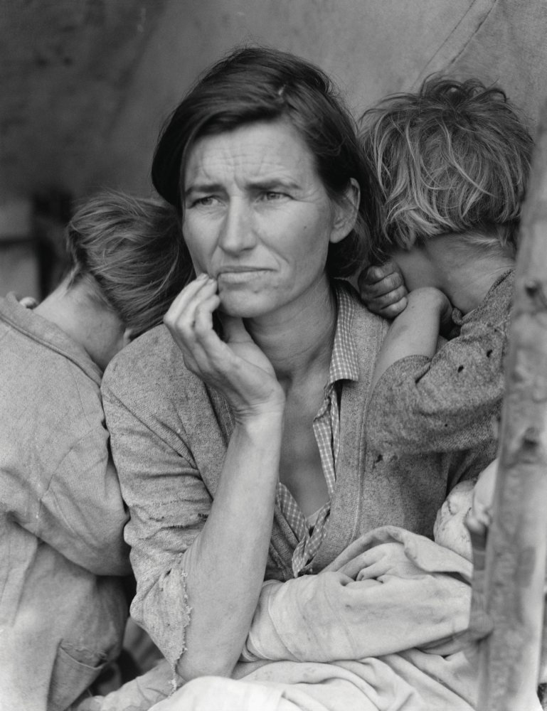 Dorothea Lange's photo, Migrant Mother, from the Great Depression.