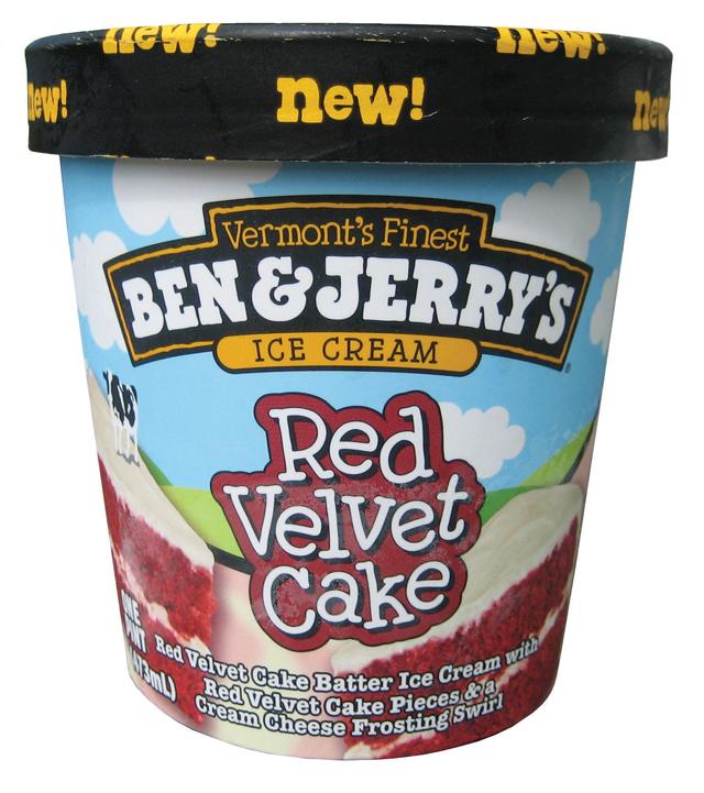 Ben and jerry's red velvet cake flavour ice cream