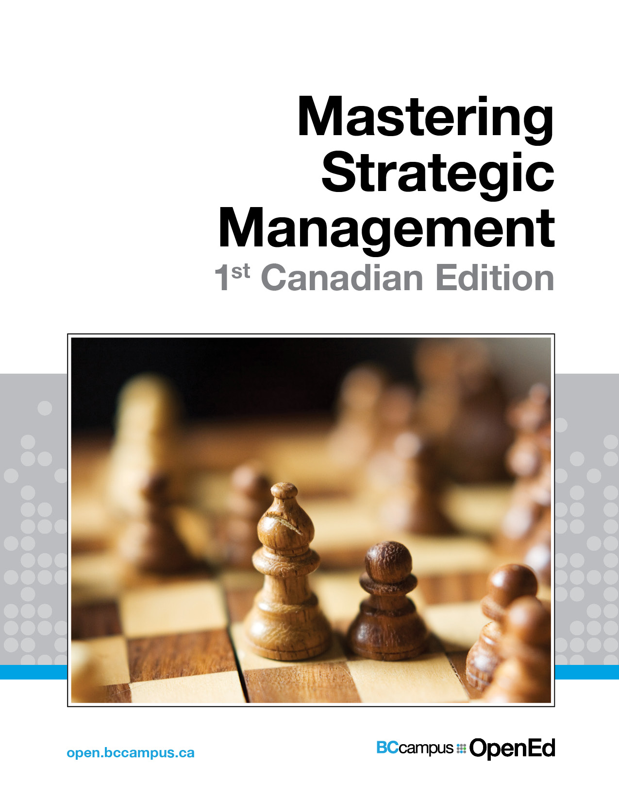 Cover image for Mastering Strategic Management - 1st Canadian Edition