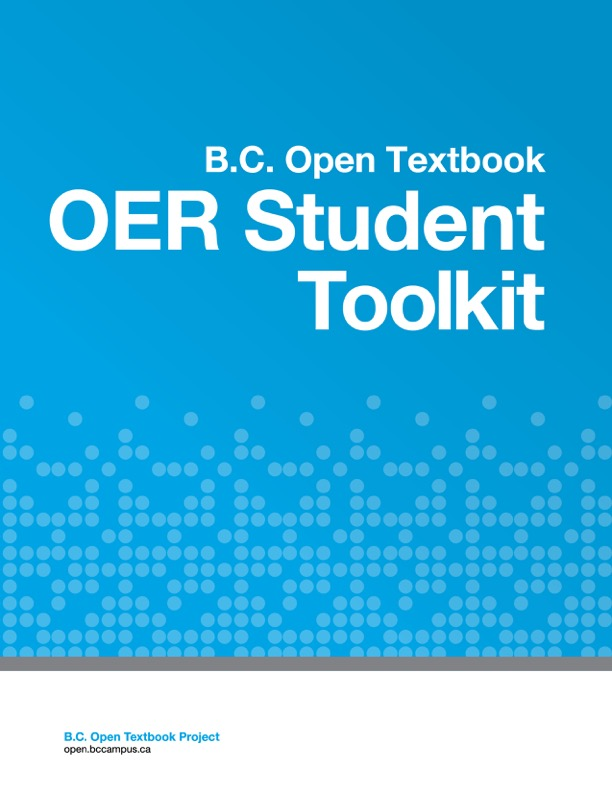 B.C. Open Textbook OER Student Toolkit