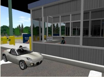 Figure 3.5.3.5 Virtual world border crossing, Loyalist College, Ontario