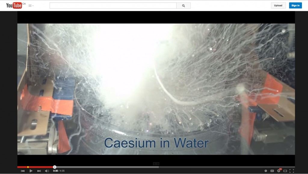 Figure 9. Is slow motion a unique characteristic of video? Image: Poring mercury into liquid nitrogen: University of Nottingham Image: