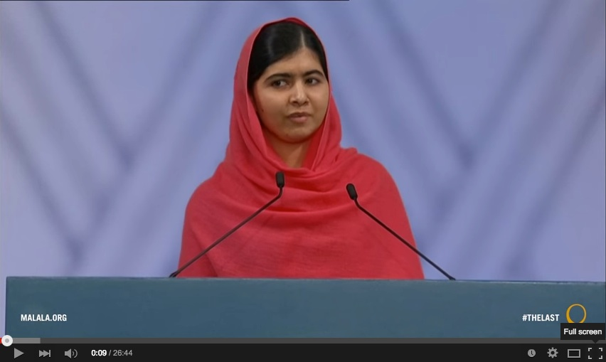 Figure 10.8 I'm just a committed and even stubborn person who wants to see every child getting quality education Malala Yousafzai's Nobel Prize speech, 2014