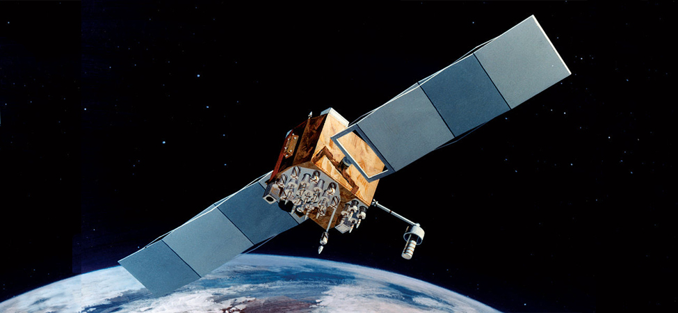 An illustration of a GPS satellite