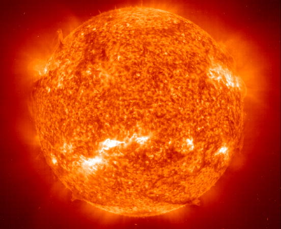 A picture of the sun.