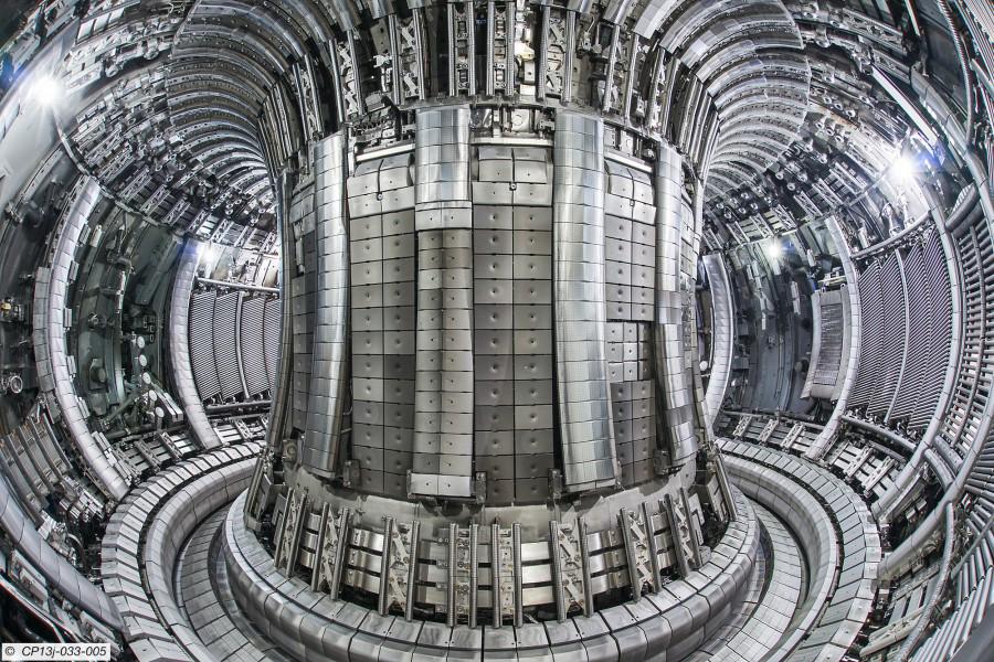A photograph of The Joint European Torus (JET) tokamak fusion detector.