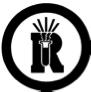 Dangerously reactive material symbol
