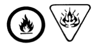 lammable and combustible material symbol.
