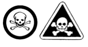 Immediate and serious toxic effects symbol