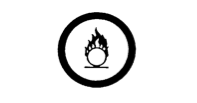Oxidizing material symbol.