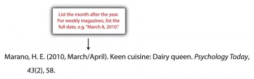 Marano, H.E. (2010, March/April). Keen cuisine: Dairy queen. Psychology Today, 43(2), 58.