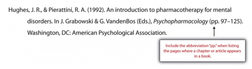 Hughes, J.R. and Pierattini, R.A. (1992). An Introduction to pharmacotherapy for mental disorders, In J. Grabowski and G. VandenBos (Eds.), Pscyhopharmacology (pp.97-125). Washington, DC: American Psyhcological Association.