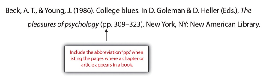 How to label a book in your essay